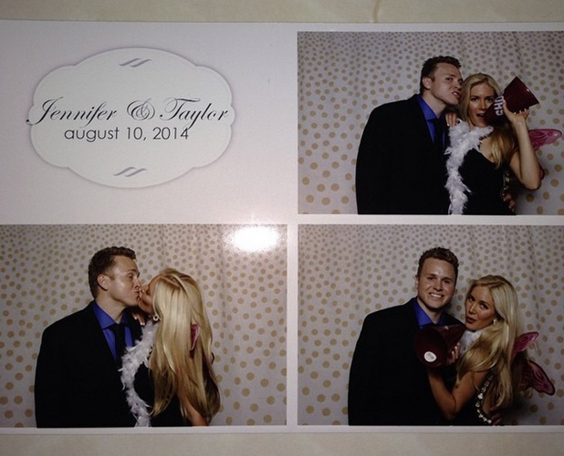 "Heidi Montag and Spencer Pratt at Jen Bunney's wedding. Captioned: ""Best wedding ever jenniferbunney !!!! Congrats!!!! You look stunning!!! Love you!!!"""