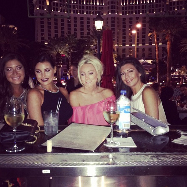 TOWIE's Jessica Wright enjoys holiday to Las Vegas for friend's hen do, August 2014