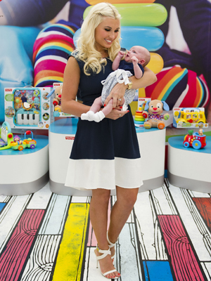 Billie Faiers and daughter Nelly at launch of Fisher-Price Discover Your Way campaign, 15 August 2014