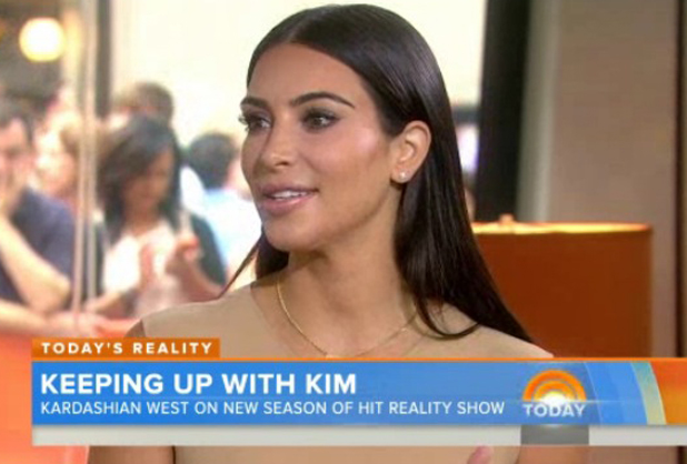 Kim Kardashian appearing on The Today Show in New York, 12 August 2014