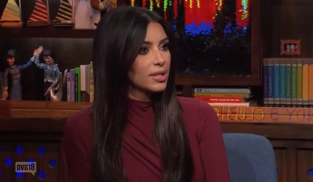 Kim Kardashian appears on Watch What Happens Live, 12 August 2014