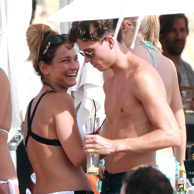 'The Only Way is Essex' cast members in Ibiza, Spain - 10 Aug 2014 Sam Faiers and Joey Essex