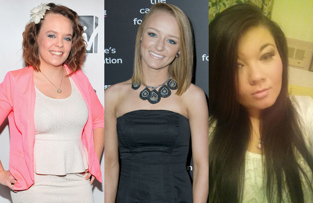 Teen Mom stars Catelynn Lowell, Maci Bookout and Amber Portwood - various