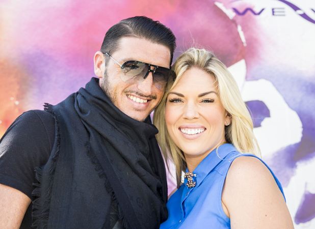 Frankie Essex and John Lyons at Harmony Store in London, August 2014