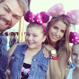 Brian McFadden treats Vogue Williams and daughters Molly and Lilly-Sue to Disney World Florida - 20 August 2014