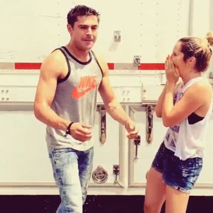 Zac Efron and Ashley Tisdale's 'ice bucket challenge', Instagram 19 August