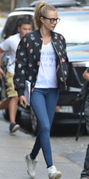 Cara Delevingne out in New York 19 August