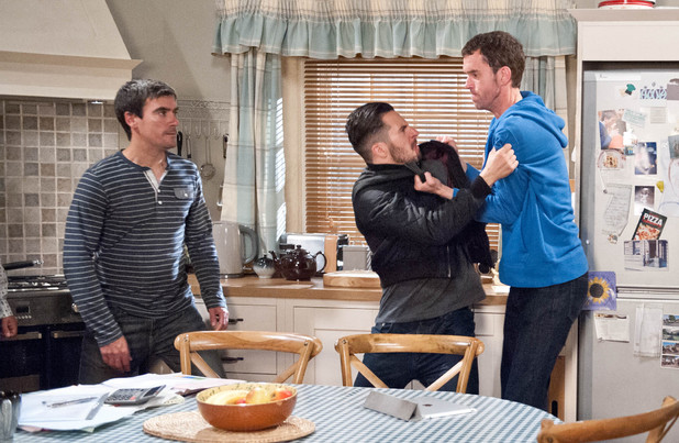 Emmerdale, Marlon finds out about Ross and Donna, Tue 19 Aug