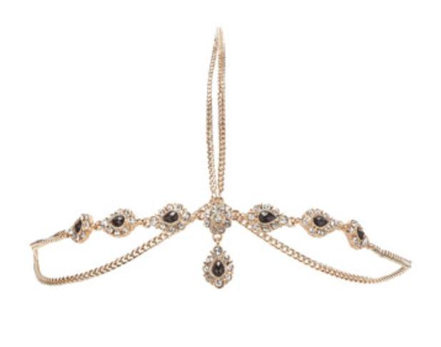 Reveal beauty: Beyoncé's golden head chain