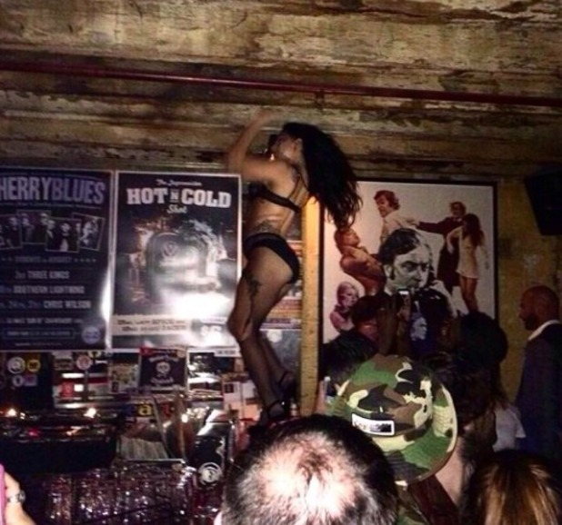 Lady Gaga parties in Melbourne after her gig, 23.8.14