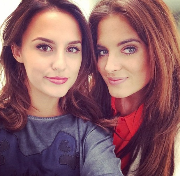 Lucy Watson and Binky Felstead take selfie while filming new Made In Chelsea, Instagram 19 August