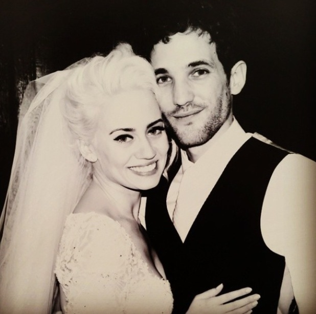 Kimberly Wyatt and Max Rogers on their wedding day, taken from Kimberly's Instagram 21/8/14