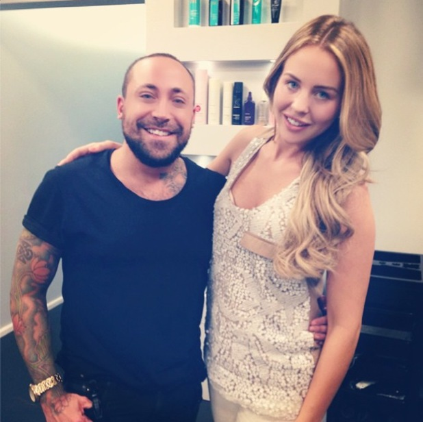 TOWIE's Lydia Bright shows off her new blonde hair colour, courtesy of Malcolm Murphy Hair salon - 21 August 2014