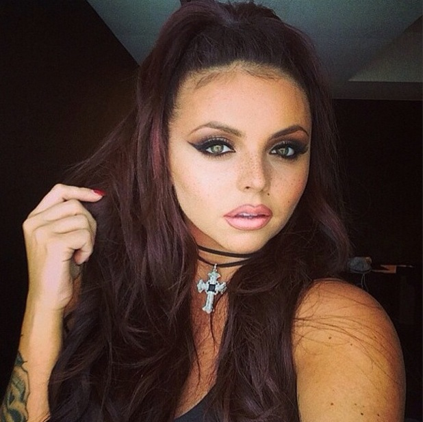 Little Mix's make-up artist Adam Burrell posts a picture of Jesy Nelson on Instagram - 19 August 2014