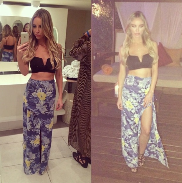 TOWIE's Lauren Pope takes an Instagram picture while on holiday in Ibiza, Spain - 18 August 2014