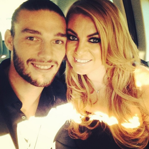 Billi Mucklow and Andy Carroll on date night, 19 August 2014