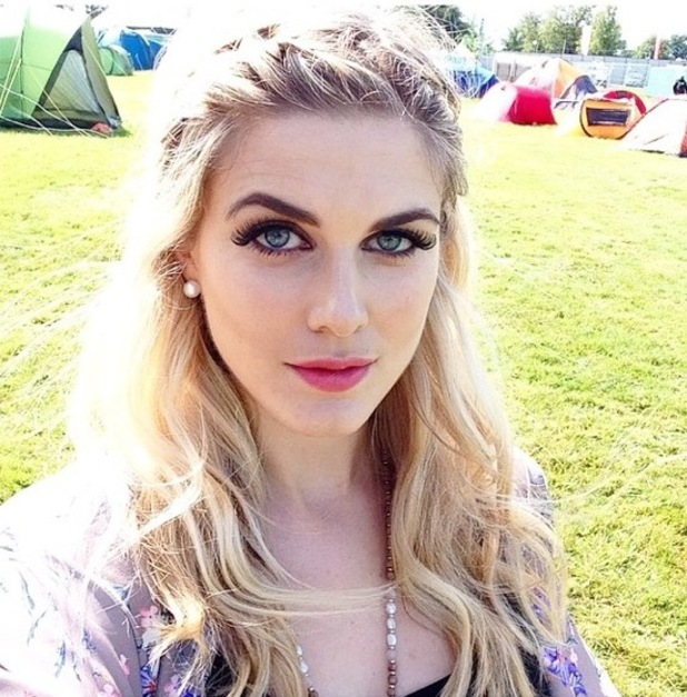 Ashely James takes a selfie at V Festival - Hylands Park, Chelmsford, Essex - 17 August 2014