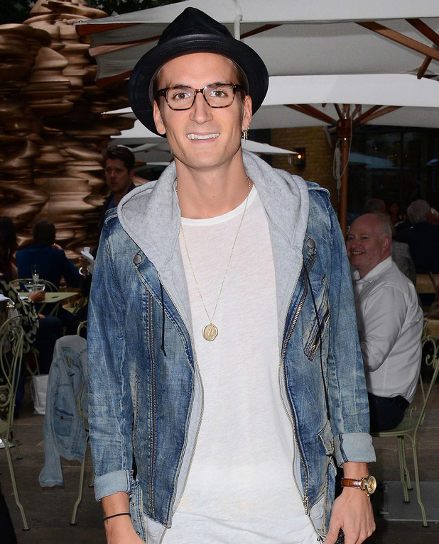 Oliver Proudlock attends 'Sin City 2: A Dame to Kill For' Gala Screening at the Ham Yard Hotel, Soho, London 20 August