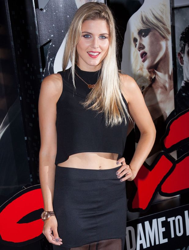 Ashley James attends 'Sin City 2: A Dame to Kill For' VIP film screening, London 20 August