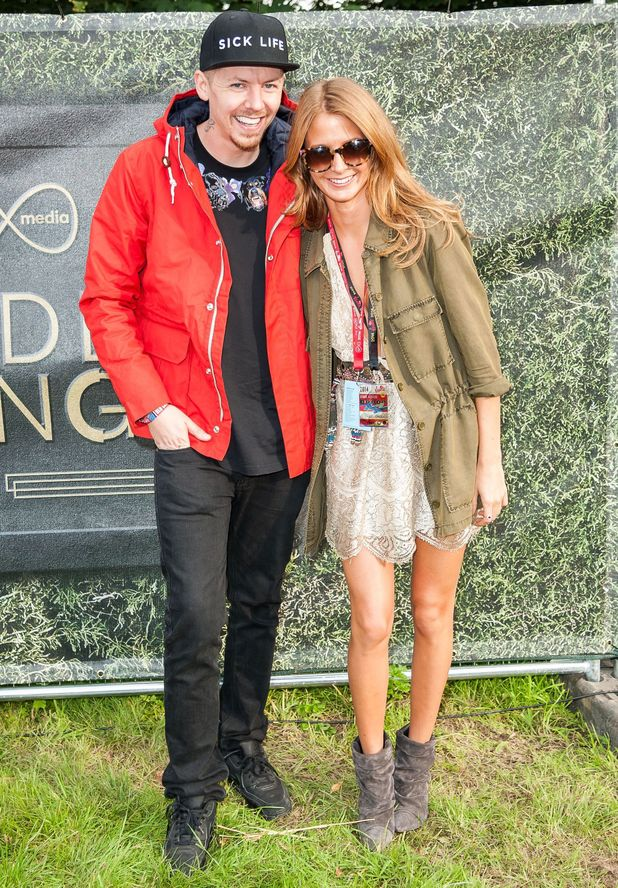 Millie Mackintosh and Professor Green in Virgin Media's Louder Lounge at V Festival in Chelmsford, England - 16 August 2014