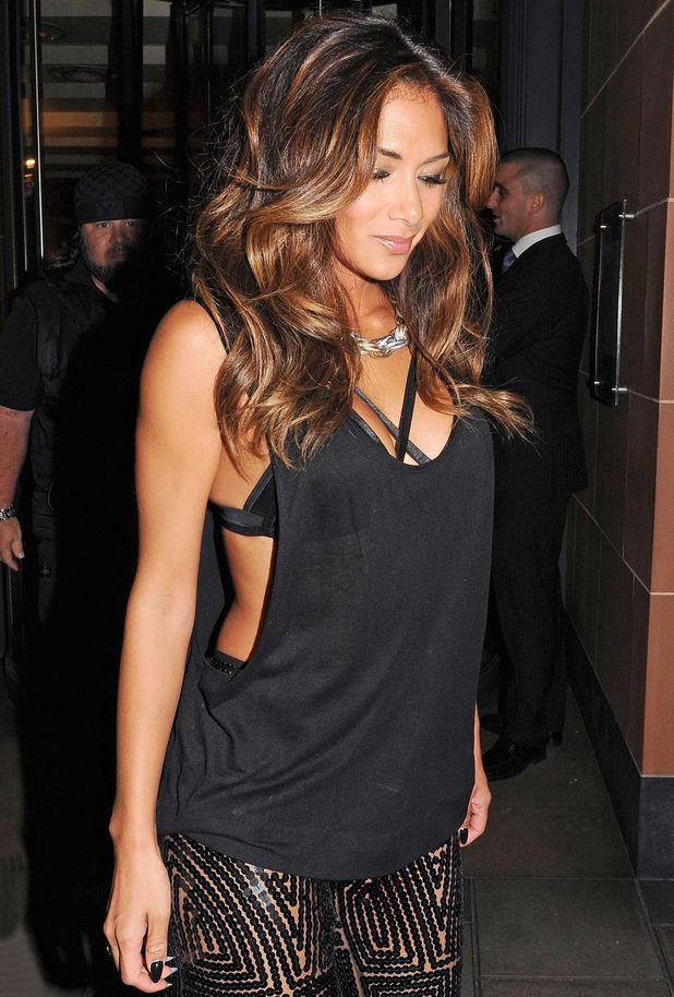 Nicole Scherzinger enjoys a night out at C restaurant, London 23.8.14
