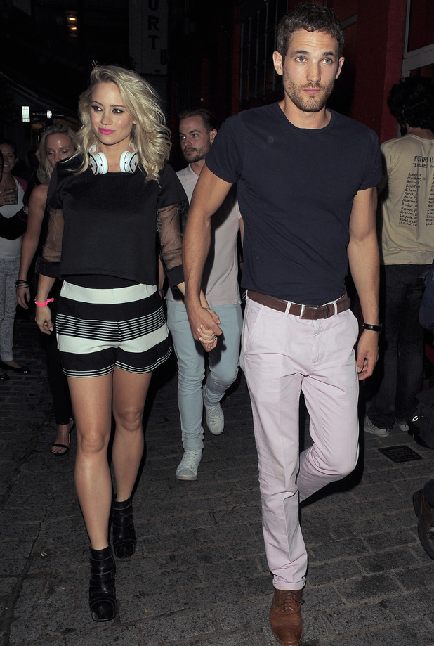 Kimberly Wyatt and Max Rogers at Malibu Rum National Pina Colada Party, 7/8/14