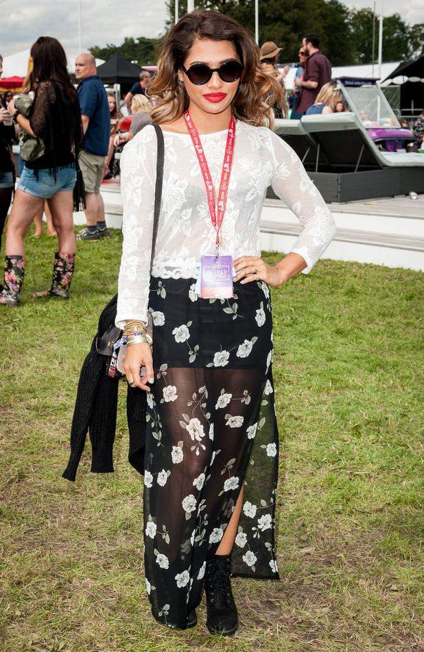 The Saturdays' Vanessa White in Virgin Media's Louder Lounge at V Festival - Hylands Park, Chelmsford, England - 16 August 2014