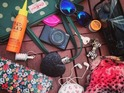 Louise Thompson reveals the contents of her Cath Kidston tote - inc TIGI hairspray and Vera Wang fragrance, 18 August 2014