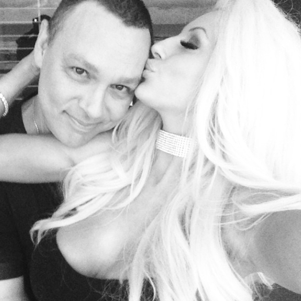 Courtney Stodden kisses Doug Hutchison after confirming their romance is back on, August 2014