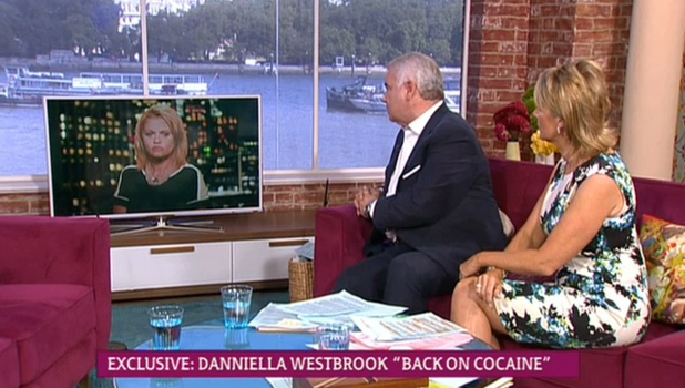 Danniella Westbrook opens up about cocaine relapse on ITV's This Morning, 21 August 2014