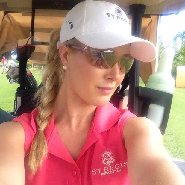 Heidi Montag plays golf in Hawaii, August 2014