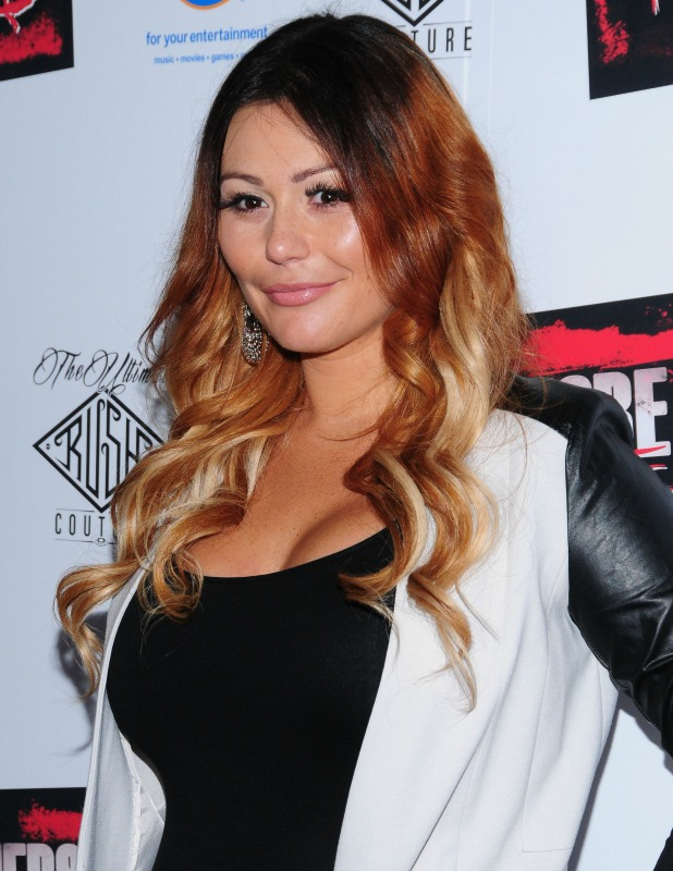 Jenni 'Jwoww' Farley at New York premiere of 'Jersey Shore Massacre' at AMC Lincoln Square Theater - Red Carpet Arrivals, 19 August 2014