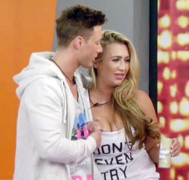 Ricci Guarnaccio and Lauren Goodger, 'Celebrity Big Brother' TV show, Elstree Studios, Hertfordshire, Britain - 19 Aug 2014
