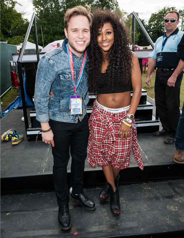 Olly Murs and Alexandra Burke, V Festival, Hylands Park, Chelmsford, Essex, Britain - 17 Aug 2014