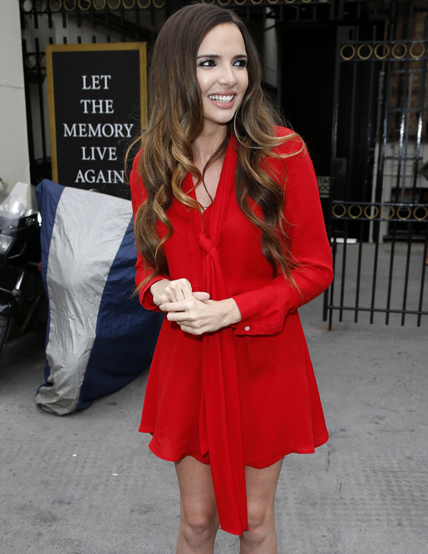 Nadine Coyle seen leaving rehearsals at the London Palladium on August 21, 2014 in London, England
