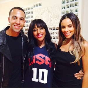 JLS' Marvin Humes watches The Bodyguard with wife Rochelle (28 August).