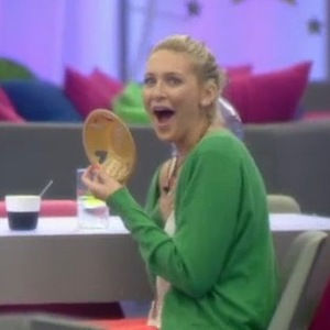 Stephanie Pratt gets homemade paper bowl from George Gilbey, Celebrity Big Brother, Channel 5 25 August