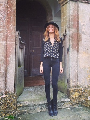 Millie Mackintosh returns to wedding venue on spa afternoon with her sister, Babington House, Frome, Somerset 27 August