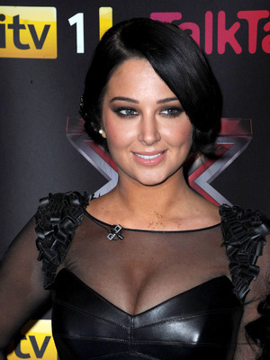 Tulisa Contostavlos X Factor final photcall, held at the Manchester Convention Centre Manchester December 2012