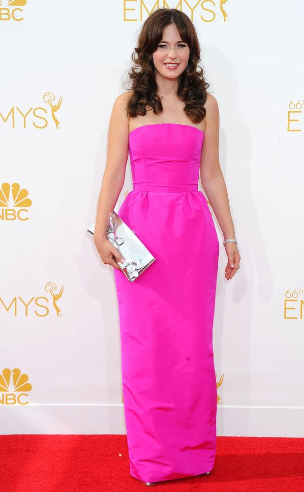 Zooey Deschanel, The 66th Annual Primetime Emmy Awards, Arrivals, Los Angeles, America - 25 Aug 2014