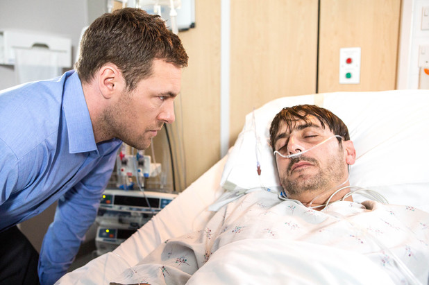Corrie, Rob visits Peter, Mon 1 Sep