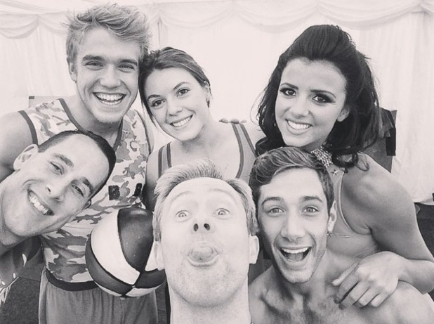 Lucy Mecklenburgh takes an Instagram picture before appearing on Tumble - 23 August 2014