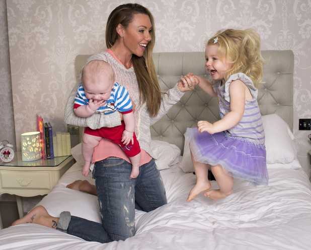 Michelle Heaton launches Disney Magical Bedtime Service with daughter Faith and son AJ - 26 Aug 2014