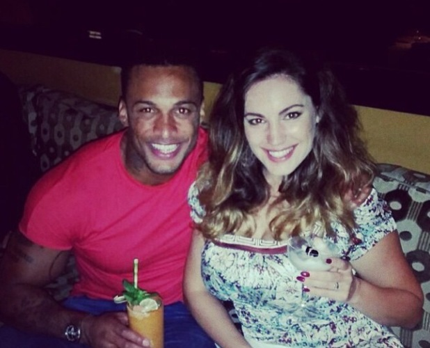 Kelly Brook and David McIntosh have dinner after his CBB eviction, Dorchester Hotel, London 28 August
