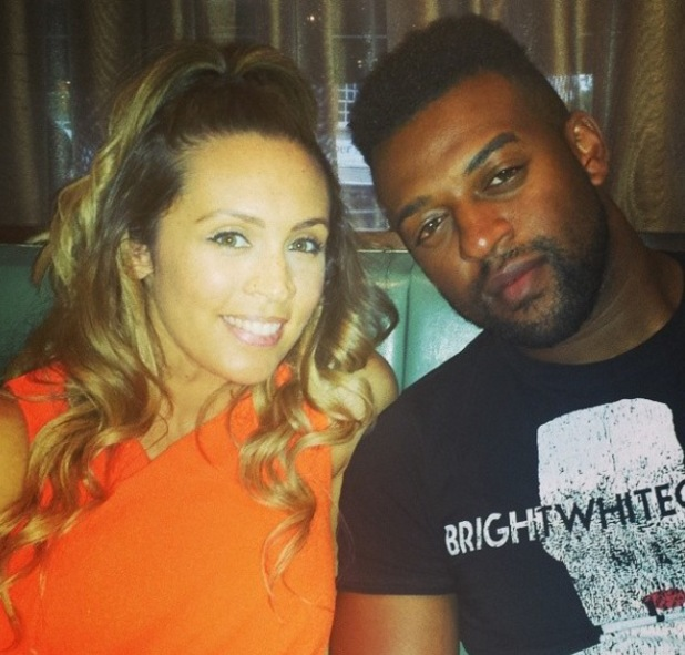 JLS star Oritsé Williams and girlfriend AJ Azari out for dinner (8 August).