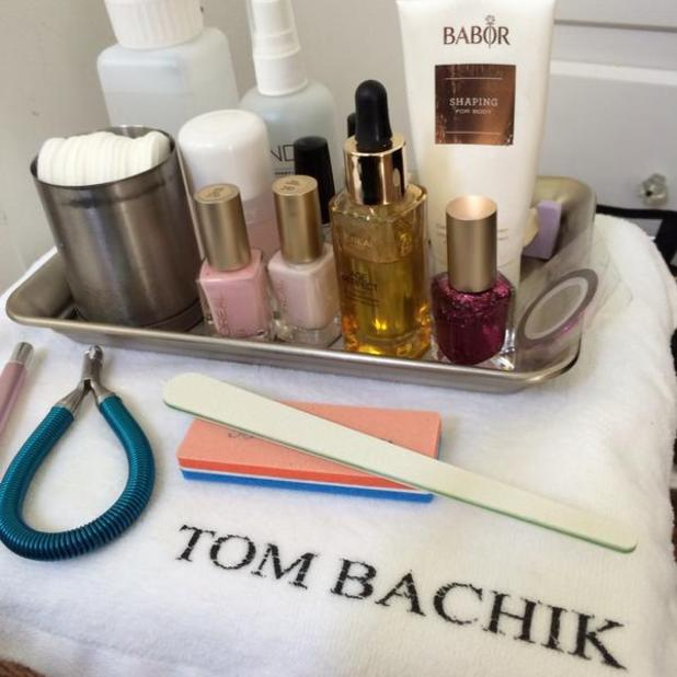 Tom Bachik shows off his nail kit ahead of Emmy Awards, 25 August 2014