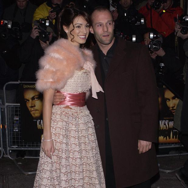Kelly Brook and Jason Statham attend the premiere of 'Gangs Of New York' held at the Empire in Leicester Square, 2003