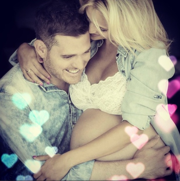Luisana Lopilato celebrates Noah's first birthday with a pregnancy picture of herself and Michael Buble - 27 august 2014