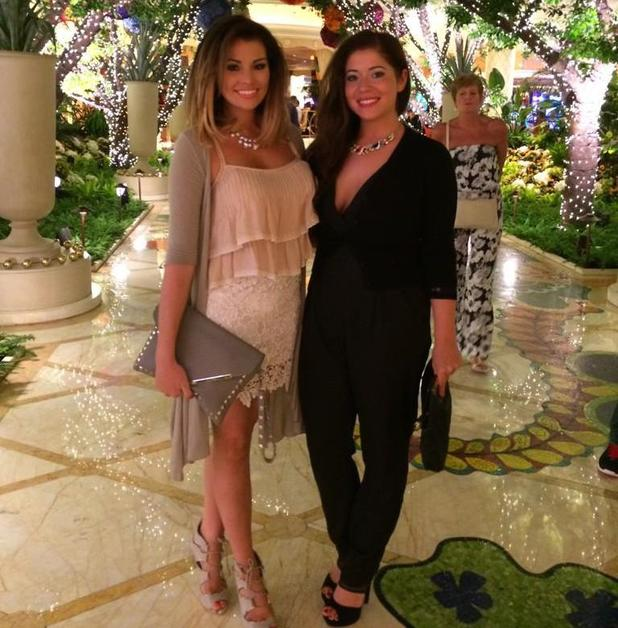 TOWIE's Jessica Wright is stranded in Las Vegas after part on plane breaks - 26 August 2014