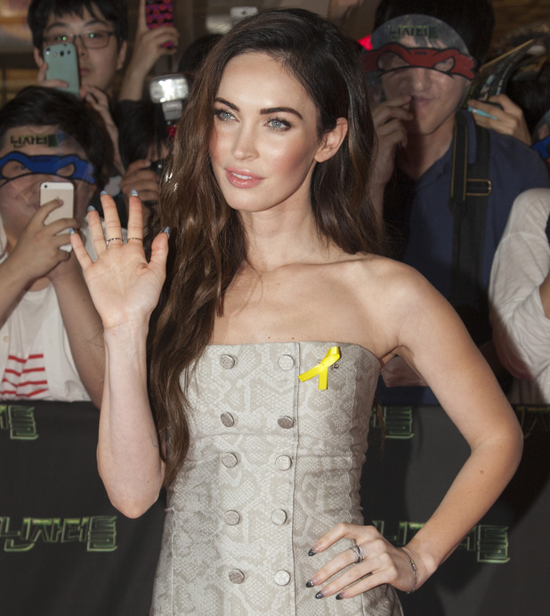 "Megan Fox attends the premiere of ""Teenage Mutant Ninja Turtles"" at CGV Yeoido, in Seoul, South Korea. 26 Aug 2014"